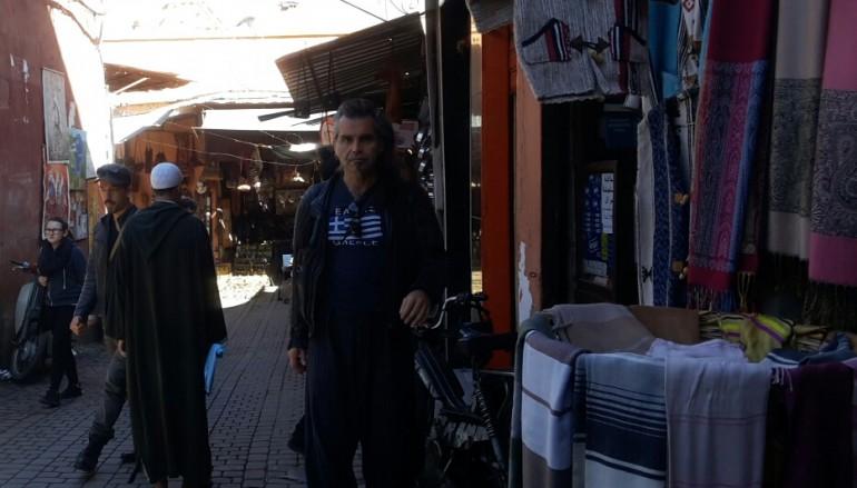 Anche Pelù tra i vicoli di Marrakech