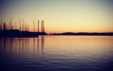 Il cielo limpido sul golfo di Trieste