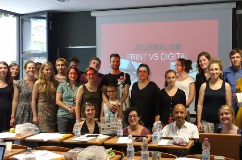 Studenti tedeschi all'Aquila per parlare di nuovi media