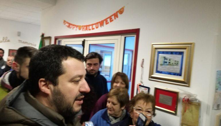 Salvini ad Arischia: vedo un paese abbandonato