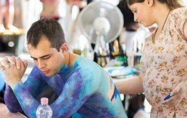 Da Lucoli a Sanremo con il body painting