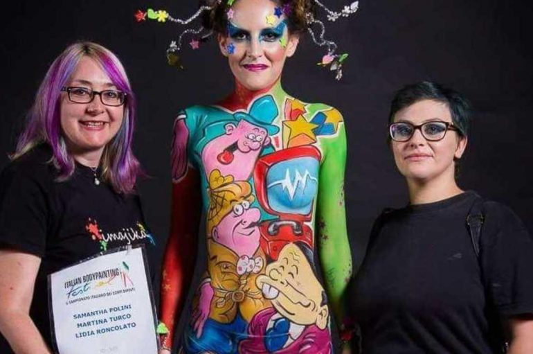 Body painting, artista di Lucoli in evidenza ai Nazionali