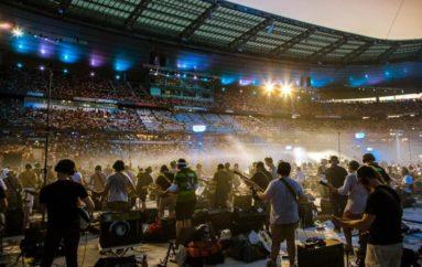 La magia del Rockin'1000 alla Commerzbank Arena