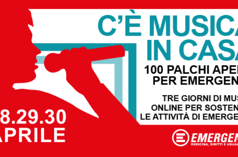 Emergency, 100 palchi in streaming da tutta Italia