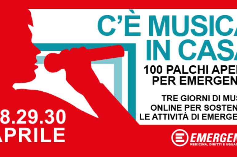 Emergency, 100 palchi in streaming da tutta Italia