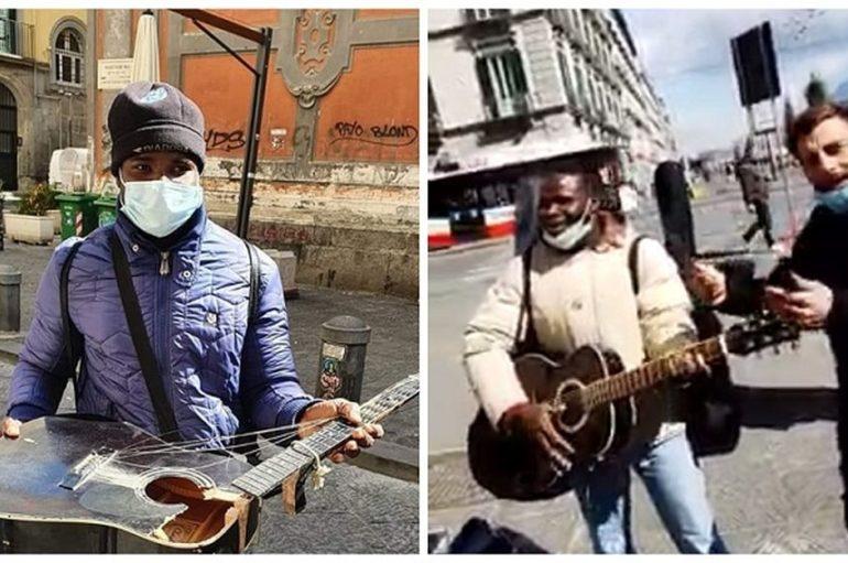 Napoli, una chitarra per Joseph