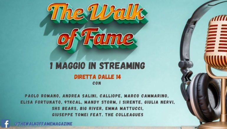 Primo maggio: concerto in streaming su The Walk of Fame